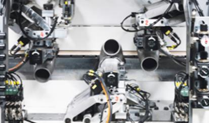 IMA Novimat Contour L20 Edgebander Radial-Arm Contour-Trimming Unit