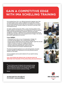 IMA Edgebander Training at IMASchelling Group USA Brochure